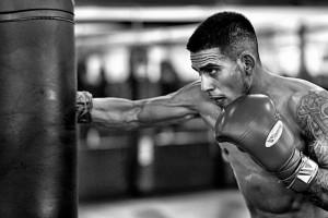 Jose Benavidez Striking Heavy Bag